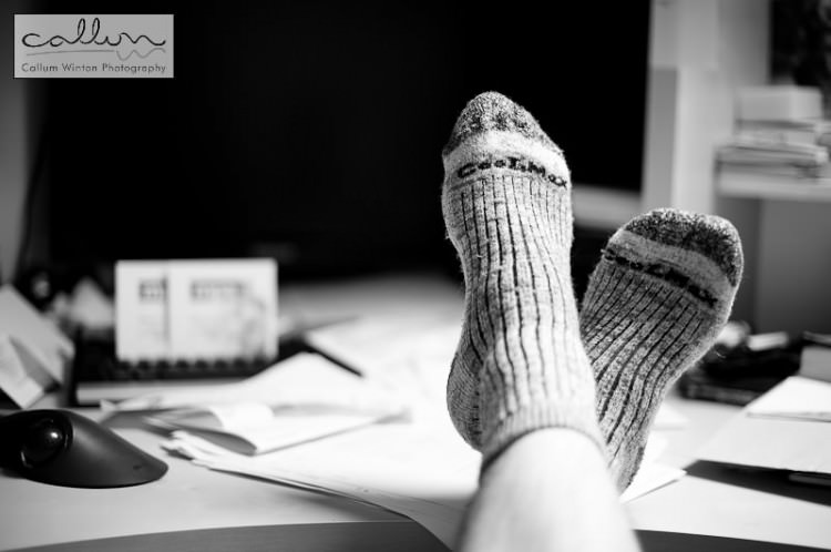 Thermal socks and a hot cuppa before hitting the books